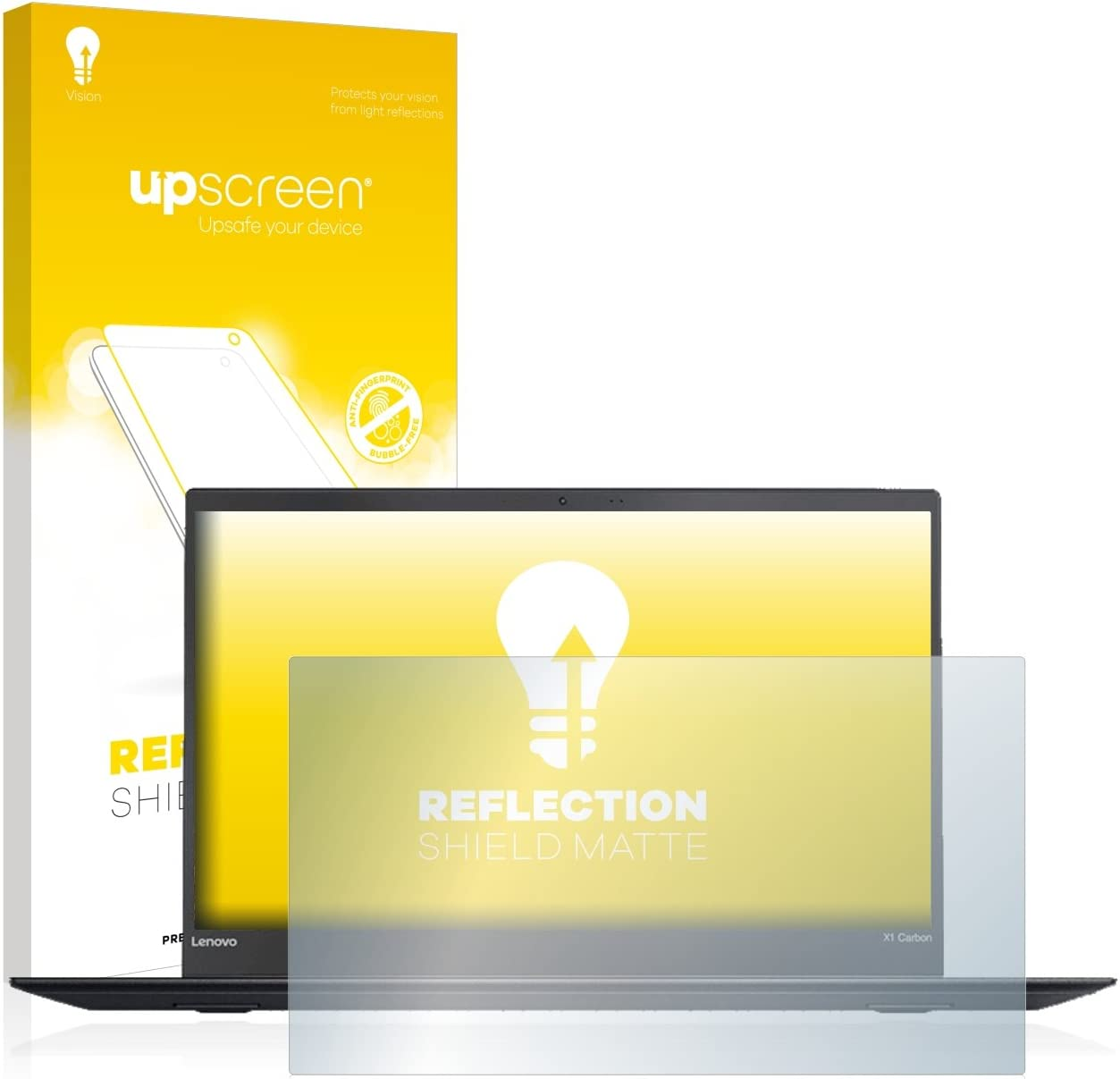 upscreen Anti-Glare Screen Protector compatible with Lenovo ThinkPad X1 Carbon 5th. generation Protection Film Matte