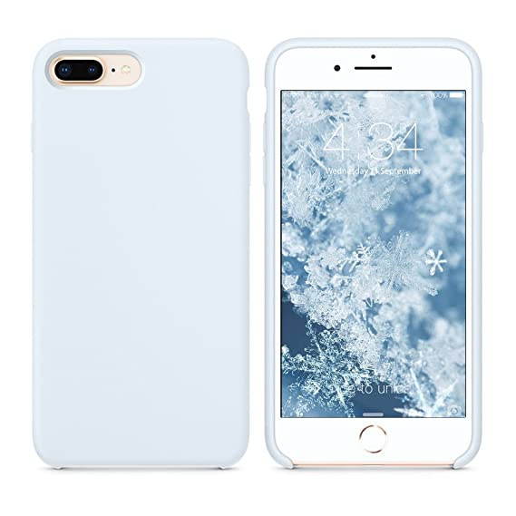 another chance 0ca04 3b39a SURPHY Silicone Case for iPhone 8 Plus iPhone 7 Plus Case, Soft Liquid  Silicone Slim Rubber Protective Phone Case Cover (with Microfiber Lining)  for ...