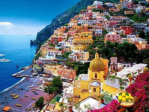 Amazon Com Canvas Prints Positano Amalfi Coast Italy
