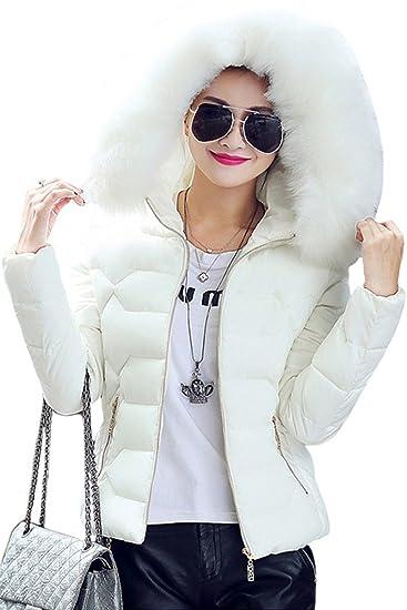 58be326004 Doudoune Manteau Femme Hiver Élégant Mode Gaine A Capuche Poches Latérales  Zipper Style de fête Avec