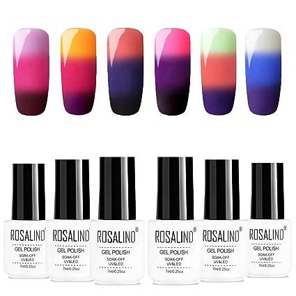 ROSALIND gel de uñas cambio de temperatura de color UV vernis gel semi permanente esmalte de uñas uñas híbridas arte conjunto de manicura