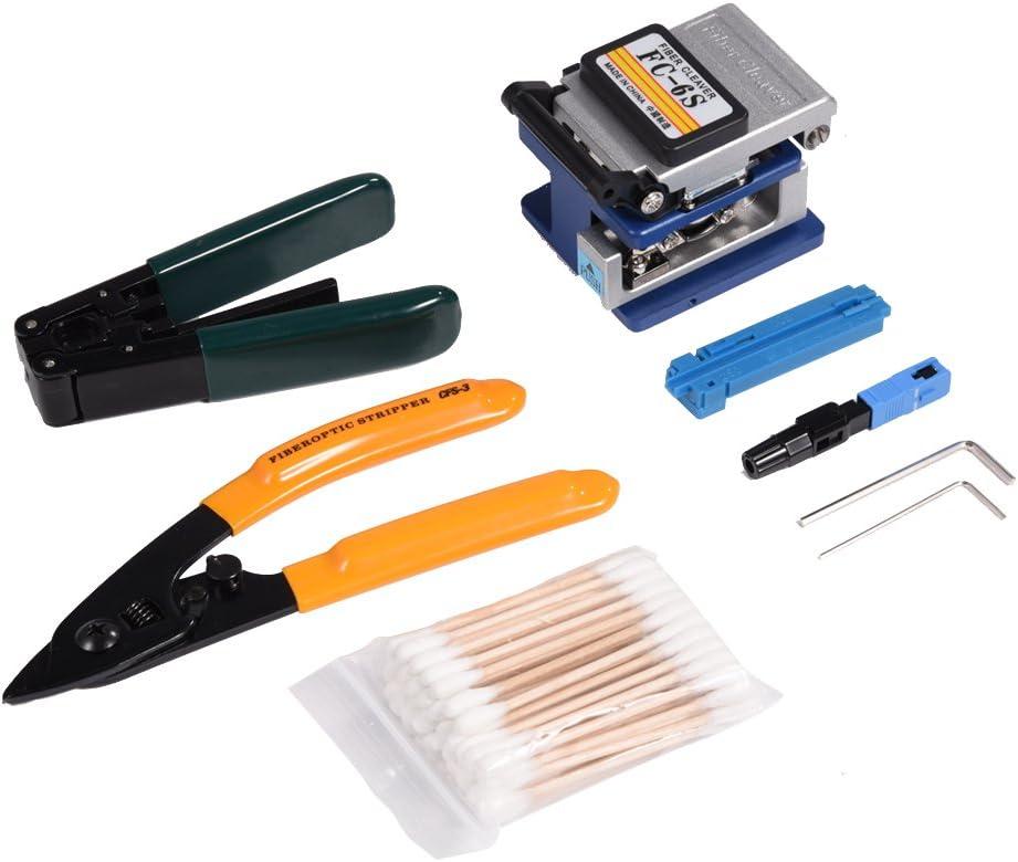 Kit de herramientas de poleado de fibras ópticas juntas FTTH con juego de juntas de fibra FC-6S FTTH