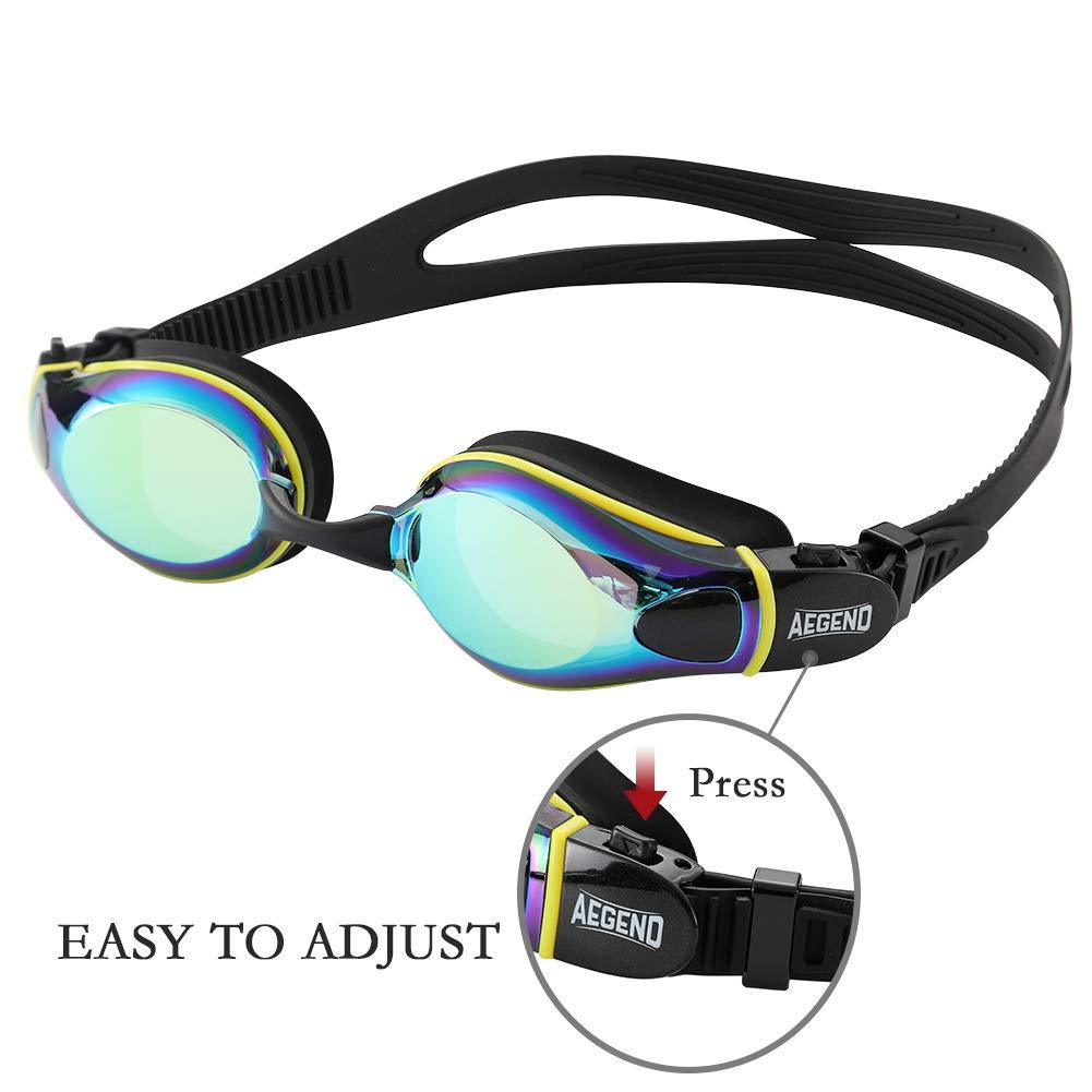 Amazon.com: Aegend - Gafas de natación de lentes planas con ...