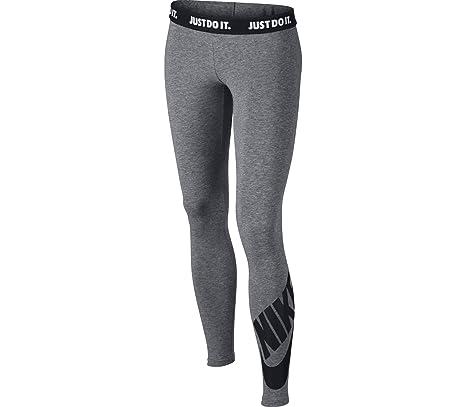 new specials popular brand new design Nike G Nsw Leg A See Lggng Logo - Carbon Heather/Black ...