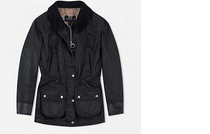 Amazon.com: Barbour wadeline waxed-cotton – Chaqueta ...