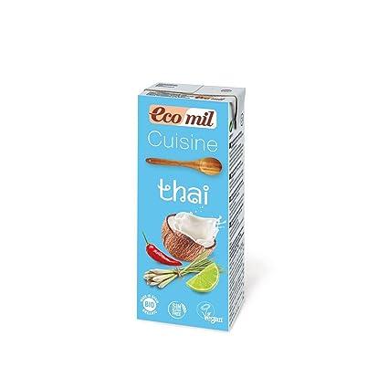 Ecomil Crema Vegetal Bio Cuisine Coco Thai, 200 ML