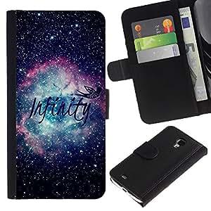 A-type (Universe Space Nebula Stars) Colorida Impresión Funda Cuero Monedero Caja Bolsa Cubierta Caja Piel Card Slots Para Samsung Galaxy S4 Mini i9190 (NOT S4)