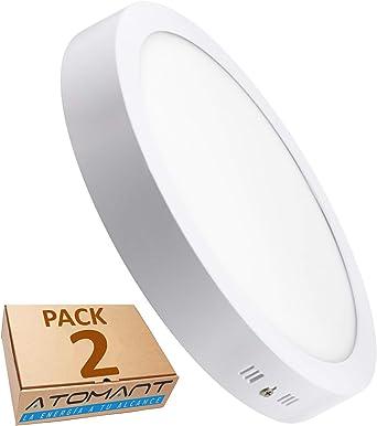LA) Pack Plafón Downlight LED Circular 18W superficie. 1600 ...