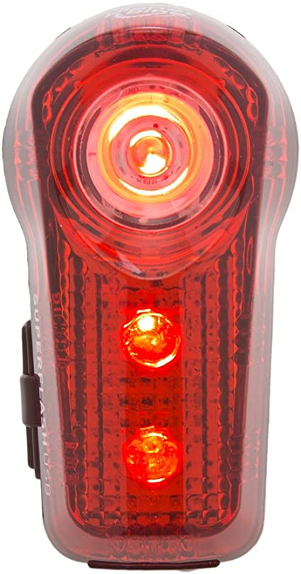 Planet Bike Superflash USB-Rechargeable Tail Light Red//Black