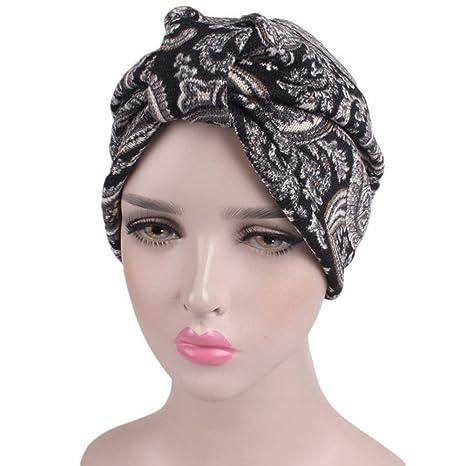 Ssowun Cappello Turbante Donna Fascia in Maglia di Lana Invernale Berretto  Indiano 5bee1235d5ee