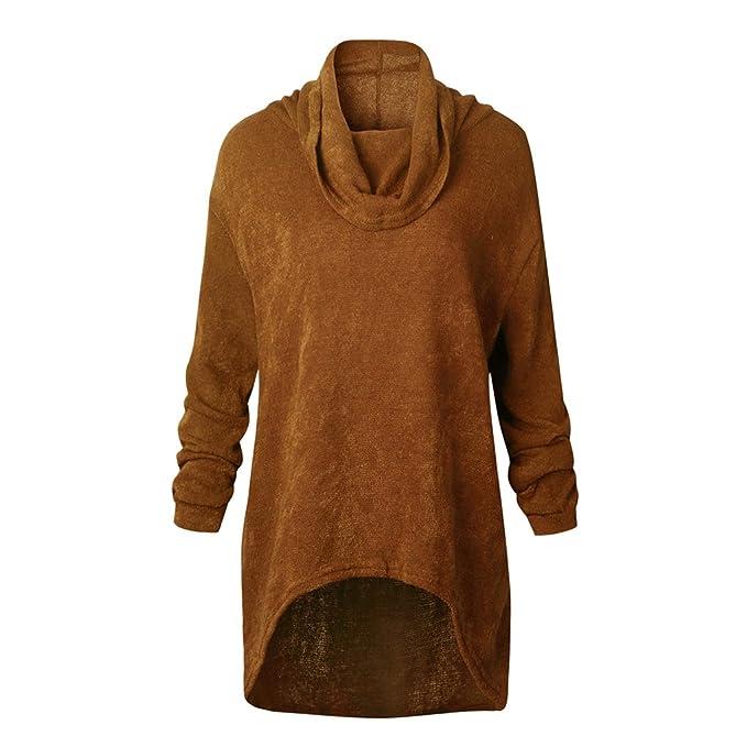 8ea905524c8f Maglie Donna Autunno Inverno Eleganti Maglione Collo Alto Lana Maglietta  Dolcevita Manica Lunga Moda Sweater Turtleneck