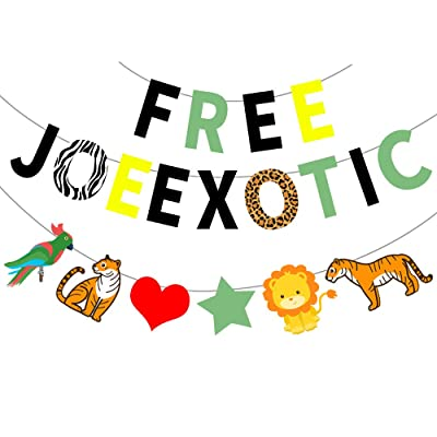 JUZIPI Joe Exotic Party Banner Decoration for Big Cat Theme Party Outdoors and Indoors Supplies: Health & Personal Care