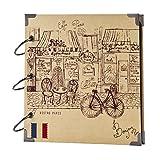 FaCraft Scrapbook for travel ,Romantic Paris,Vintage Sketch Cover for vacation photo album 8x8