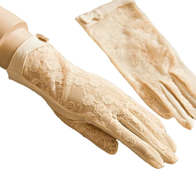 Vintage Style Gloves Urban CoCo Vintage Spring and Summer Womens Lace Cotton Short Gloves $8.99 AT vintagedancer.com