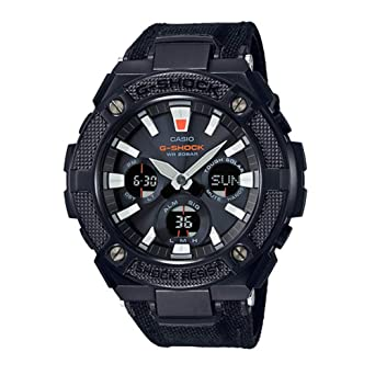 908ea17059f5 Image Unavailable. Image not available for. Color  CASIO G-Shock G-Steel  GSTS130BC-1A Black Watch