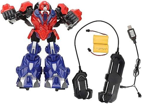 Batalla de Juguete de Robot de Boxeo, Juguete de Control Remoto de Robot con Juego de Boxeo Ligero de Baile Tecnología Juguete de Robot con Sonido Iluminación para niños - Amazon.es