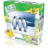KS Puzzle 100 Parça Penguins 10110