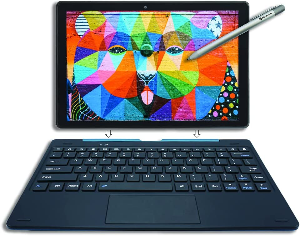 [4 Bonus Items] Simbans PicassoTab 10 Inch Drawing Tablet with Stylus Pen and Keyboard, 4GB RAM, 64GB Storage, Android 10, Best Gift for Beginner Graphic Artist, Mini-Laptop for School - PLX