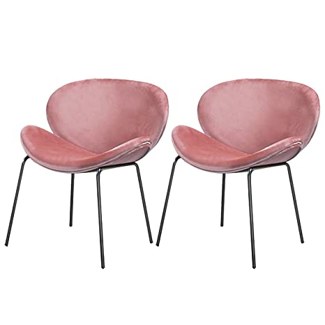 Amazon.com: Chair for Bedroom Set of 2 Velvet Accent Chairs ...