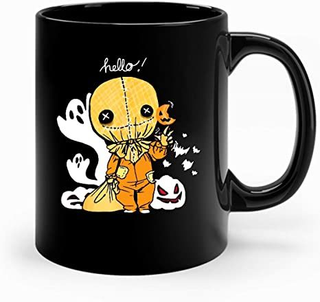 Amazon.com: Trick R Treat Funny Cute Sam Halloween Costume Movie Mug- Movie Mugfor Mugs- Cool Movie Mugs: Home & Kitchen