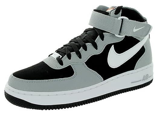 Nike Air Force 1 Mi 07 Chaussures De Sport De Basket-ball Blanc / Blanc / Blanc / Loup