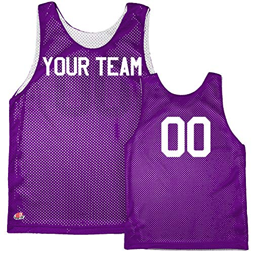 Basic Reversible Custom Basketball Jersey Adult X-Large in Purple and White