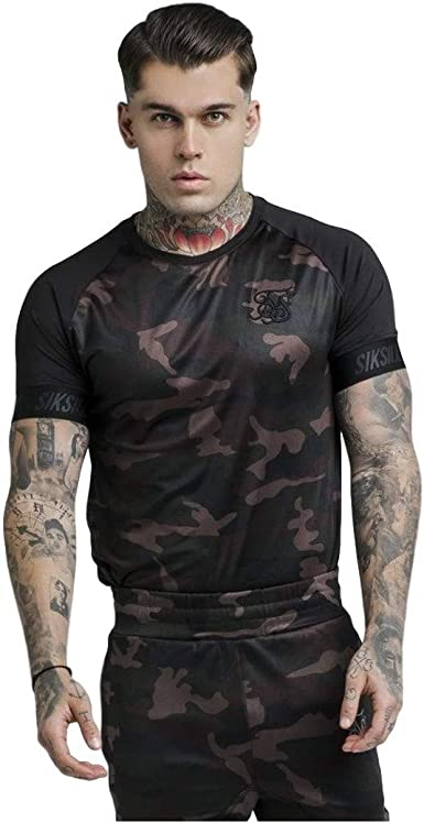 Camiseta Siksilk Raglan Tech Camo TL