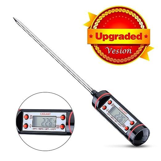 519 opinioni per Caslant Termometro Digitale da Cucina [Garanzia a Vita] con Lunga Asta e Schermo