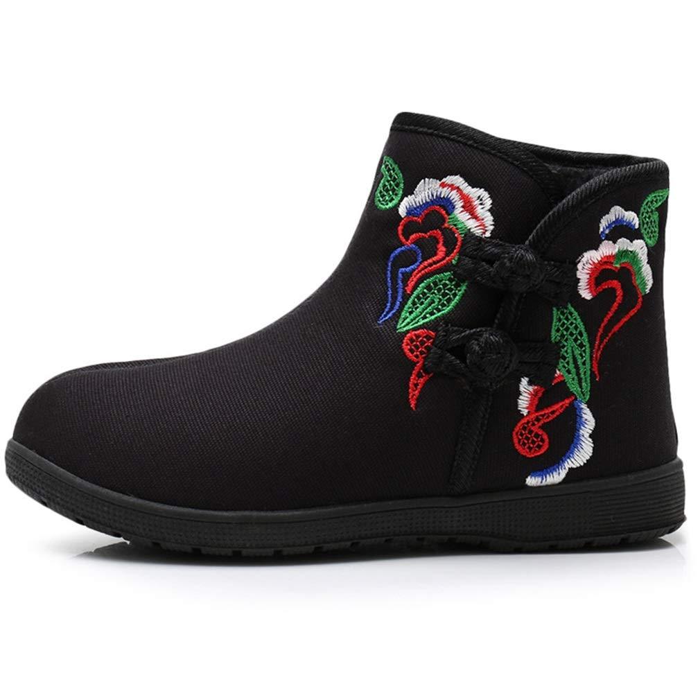 YAN Frauen Besteickte Besteickte Besteickte Schuhe Baumwolle Stiefel Folk-benutzerdefinierte Rutschfeste warme Schuhe Hochzeit lässig Party & Abend ac5c32
