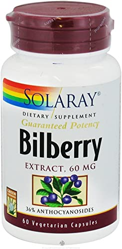 Bilberry Extract Healthy Eyes Circulation 60 MG 60 Capsules