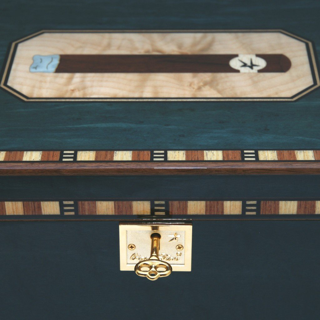 Cigar Star Cigar Humidor Limited Edition Blue Havana SPECTACULAR Details. by Cigar Star (Image #9)