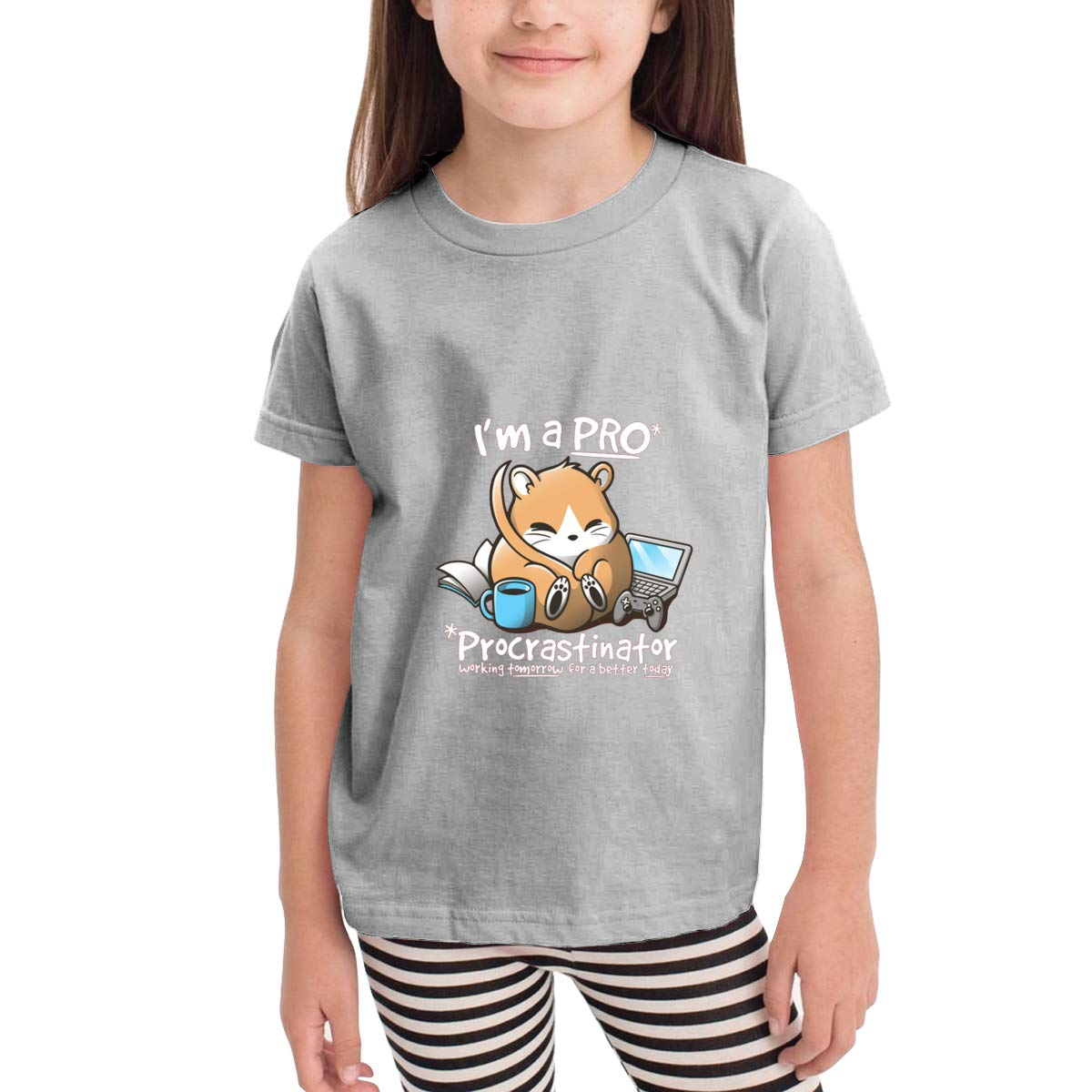Dormouse is A PRO 100/% Cotton Toddler Baby Boys Girls Kids Short Sleeve T Shirt Top Tee Clothes 2-6 T