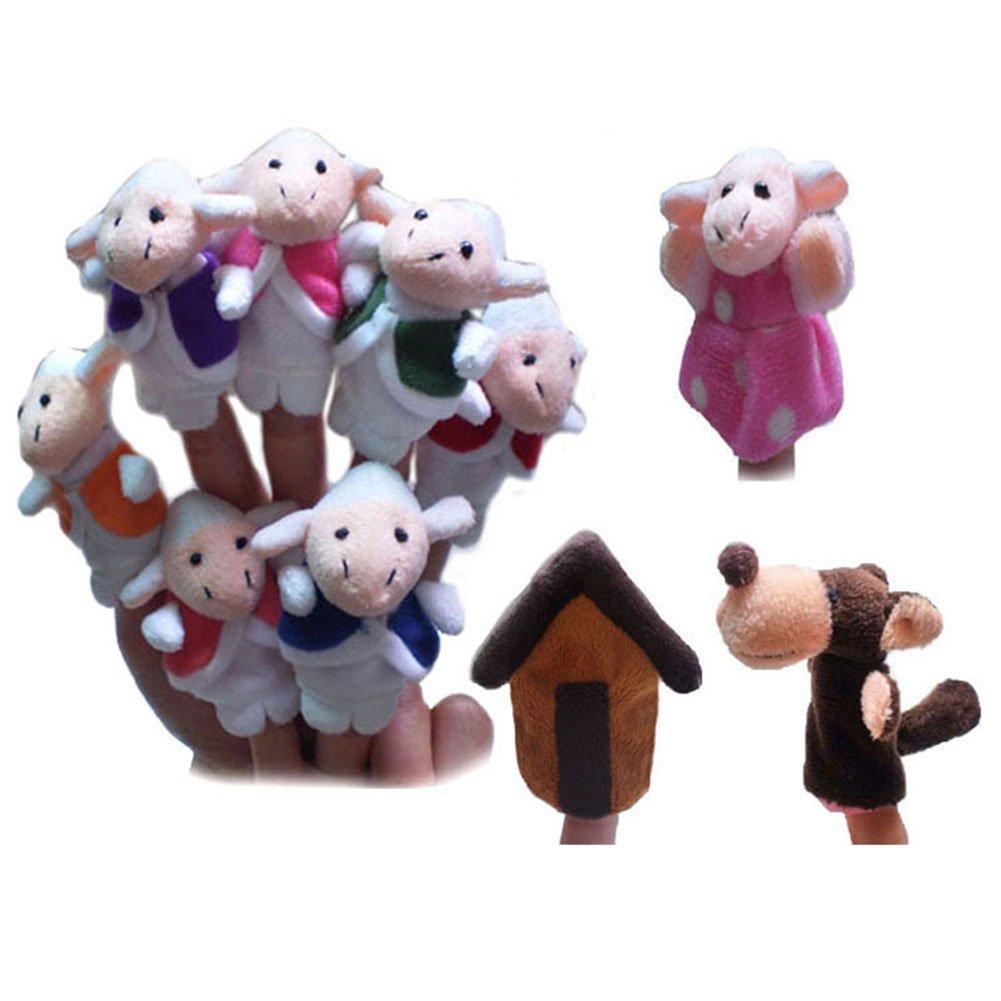 Pinkyee die Märchen Fingerpuppen für der Wolf und die sieben Little Ziegen TB2015PP0097