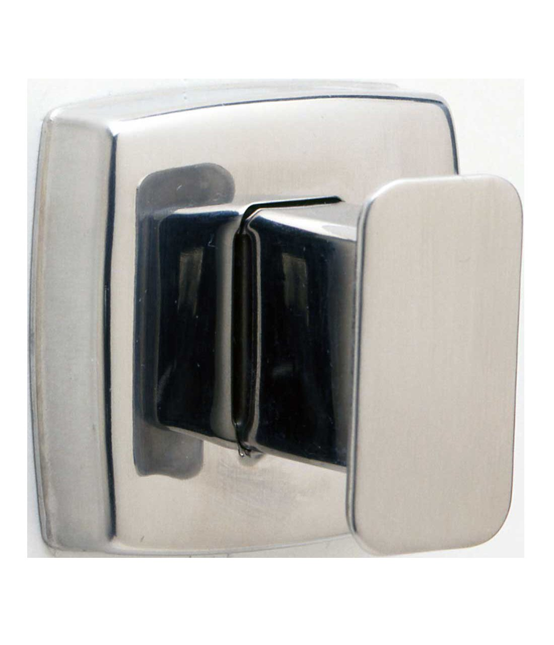 Bobrick 76717 Stainless Steel Surface Mounted Single Robe Hook, Satin Finish, 1-3/16'' Width x 1-5/8'' Height by Bobrick (Image #1)