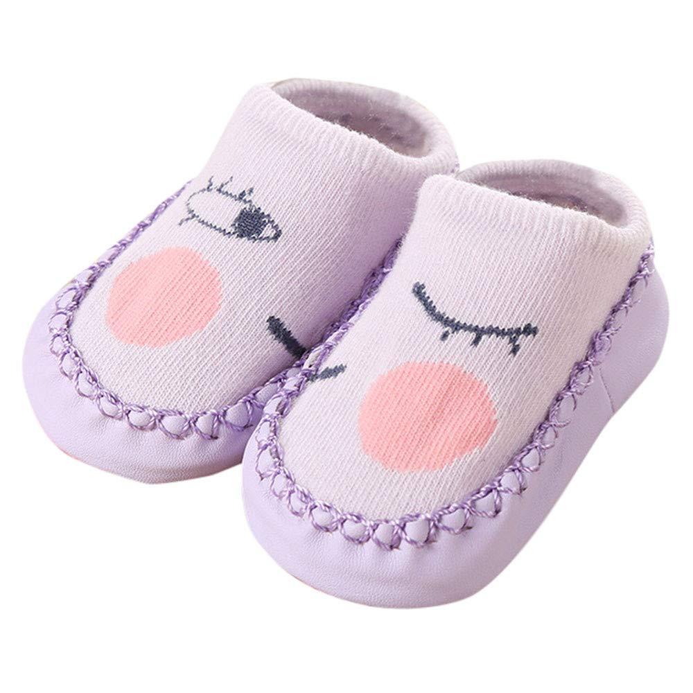 FIged Newborn Anti-Slip Cartoon Cute Twinkle Eyes Baby Step Socks Perfect Gifts