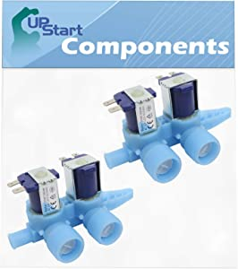 2 Pack WH13X10024 Washer Dual Inlet Valve Replacement for GE Whre5550k2ww, GE Wjre5550k2ww, GE Wdsr2080d5ww, GE Whdsr315daww, GE Wjsr2070b2ww, GE Wcxr1070a1ww, GE Wwse5240g0ww, GE Wh13x10024
