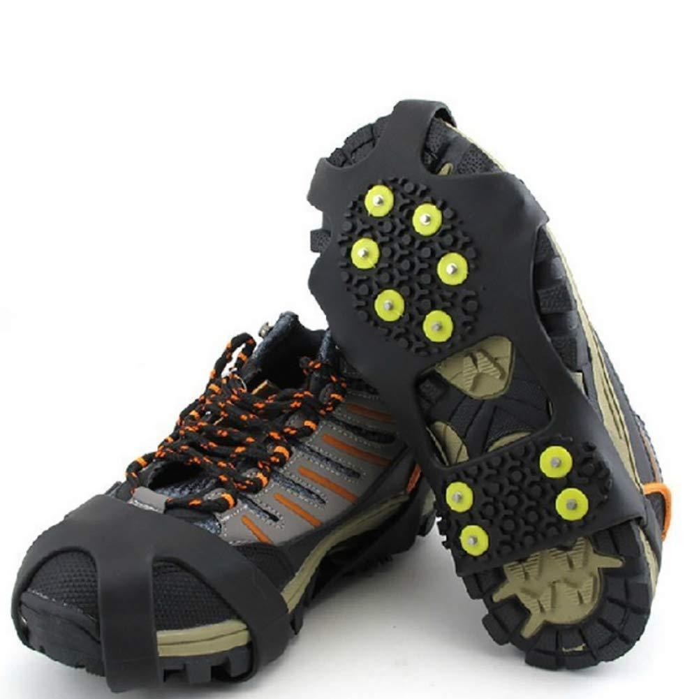 VALUEU Couvre-Chaussures Anti-dérapants Poignées Neige/Neige Couvre-Chaussures Cales de Traction Crampons en Caoutchouc Anti-dérapant Alpinisme