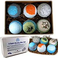 Father's Day Bath Bombs For Men - Relaxing Epsom Salt, Organic Essential Oils Handmade In USA - Perfect Gift Set For Men, Husband, Dad, Father