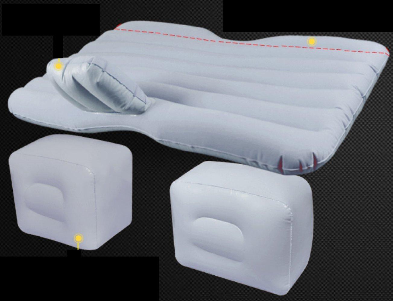 ERHANG Luftmatratzen Aufblasbares Bett Rear Seat Outdoor Reisebett SUV Auto Bett Isomatte,Blau