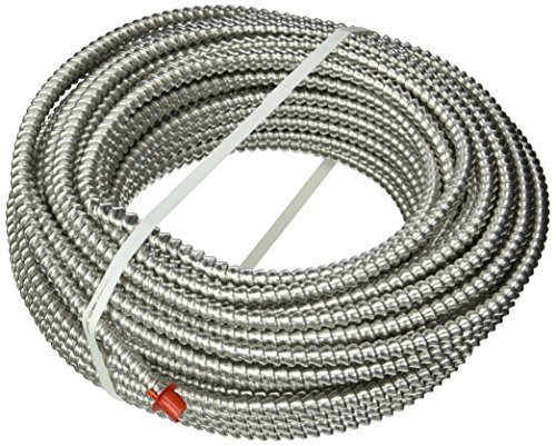 Southwire 68579223 14/2 Type50-Feet 14-Gauge 100-Feet 2 Conductors MC Solid Metal Clad Cable with Aluminum Armor and Green Insulated Ground Wire by Southwire