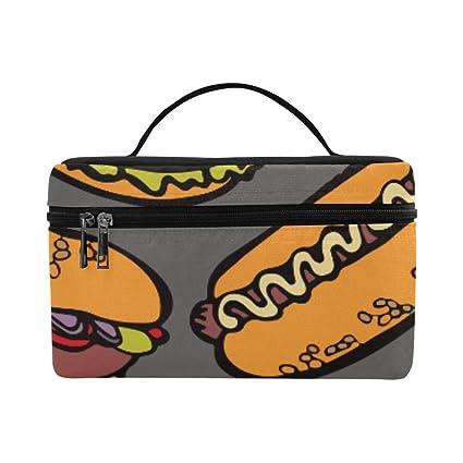 630e644e0b94 Amazon.com: Cool Food Party Hamburgers Pizza Hot Dog Pattern Lunch ...