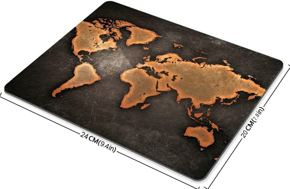 Map Mouse pad Map Mousepad Mouse Pads World map Vintage Black World Map Antique Large Mouse pad