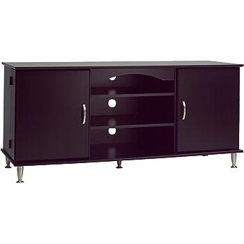 Etonnant Premier Large Black Flat Panel Plasma / LCD TV Console With Media Storage