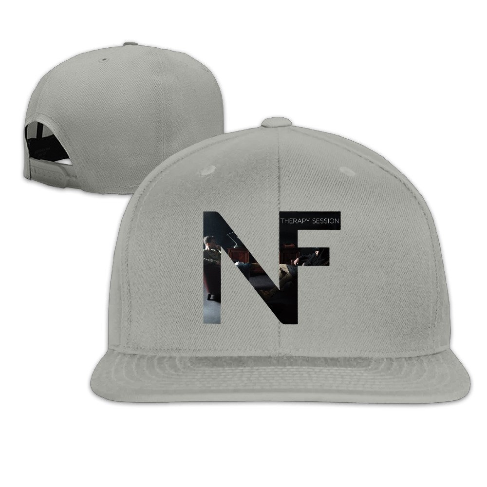 CieMoAs NF Therapy Session Boy Girl Adjustable Flat Bill Hat Baseball Cap Ash