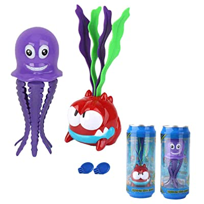 Jiashi 2 Pcs Baby Bath Toys Octopus Seaweed Can Float Induction Lights Children Bath Bathroom Baby Toys 1: Home & Kitchen