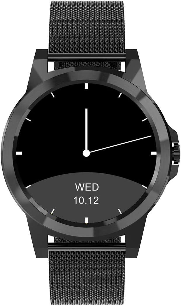 Diggro SW19 - Reloj inteligente con Bluetooth resistente al agua para fitness, podómetro, monitor de sueño, salud, calorías, rastreador remoto con control de música para teléfono Android IOS