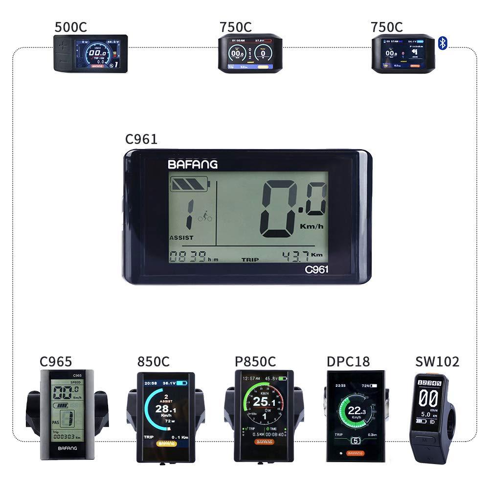 BAFANG Mid Drive Display Mid Motor Control Panel 750C 850C P850C C961 C965 C18 500C SW102(C961)