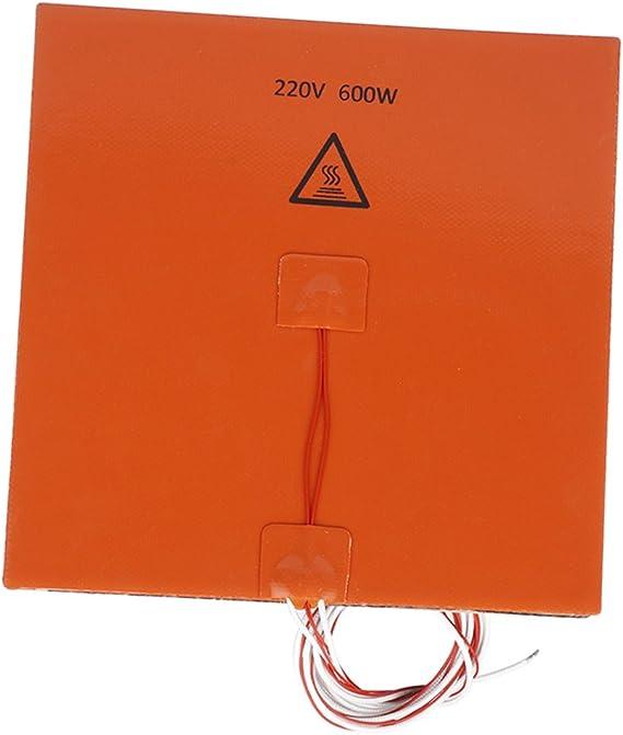 200x200mm 220 V 600 W Almohadilla de Calentador de Silicona 3D ...