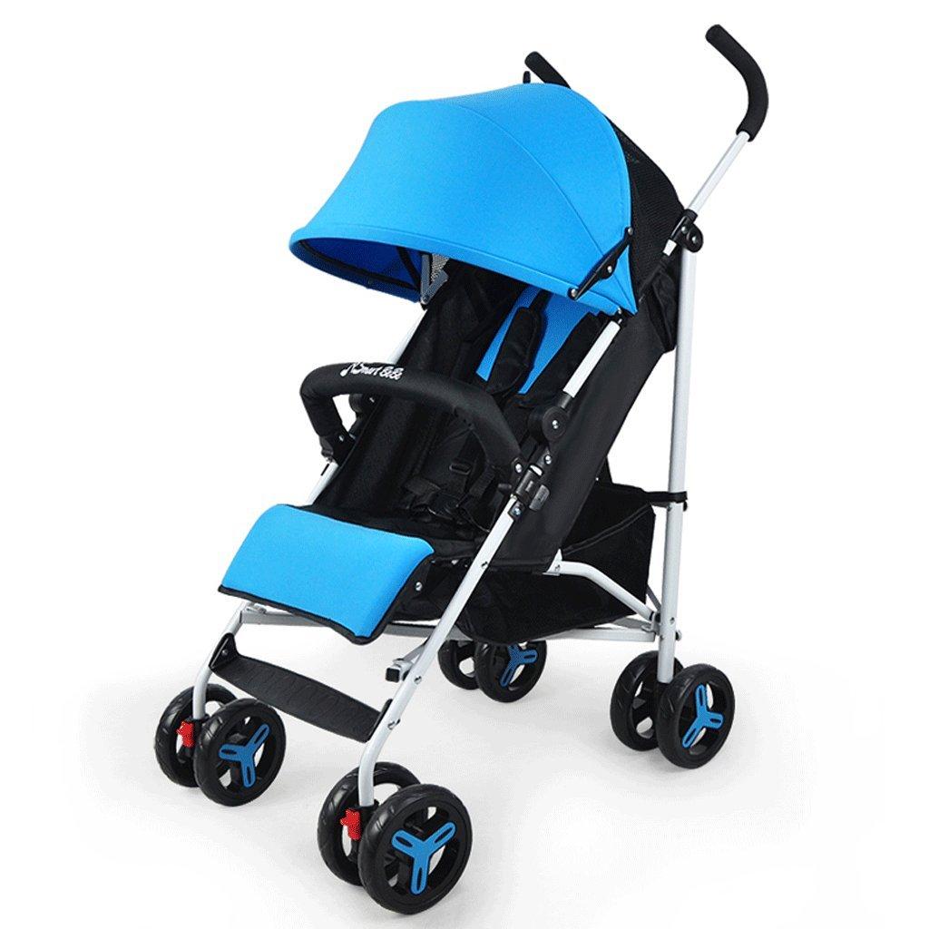 ベビーベビーカー軽量ポータブルリセスドカート(ブルゴーニュ)(カーキ)(ブルー)66 * 49 * 103cm ( Color : Blue ) B07BW3RKJR