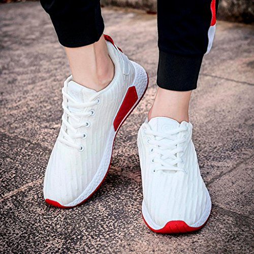 Hunputa Mode Vrouwen Mannen Mesh Ondiepe Mond Cross Gebonden Casual Schoenen Gym Schoenen Skate Schoenen Sneakers Trainers Wit